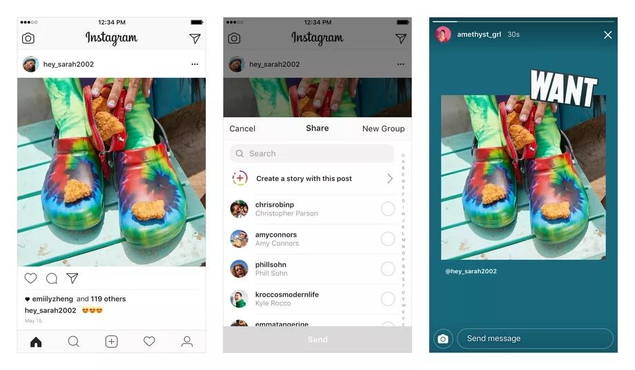 Instagram posts to Stories